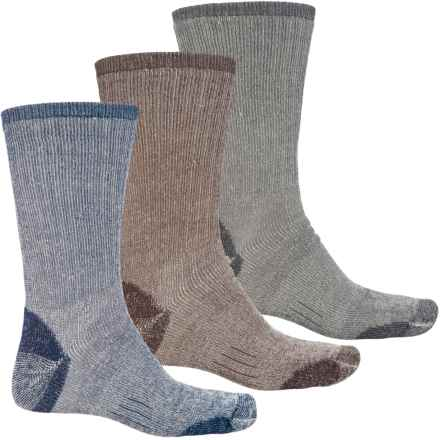 Omni Wool Multi Sport Hiking Socks - 3-Pack, Merino Wool, Crew (For Men and Women) in Brown/Charcoal/Navy - Closeouts