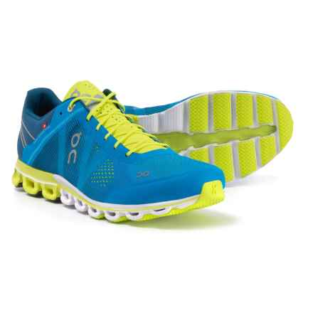 On Cloudflow Running Shoes (For Men) in Malibu/Neon - Closeouts