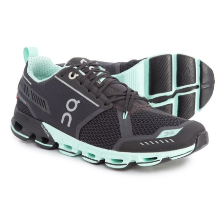 On Cloudflyer Running Shoes (For Women) in Grey/Jade