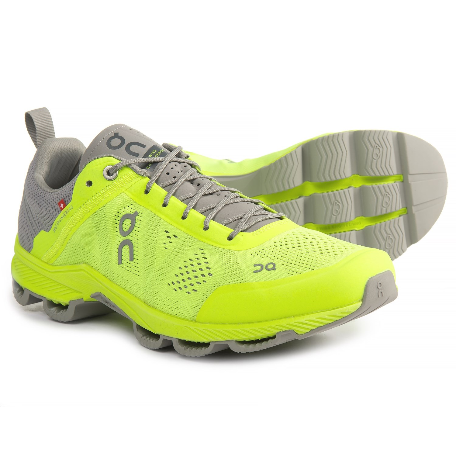 On Cloudsurfer Running Shoes (For Men) in Neon/Grey