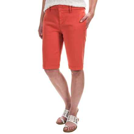 On-Seam Pocket Bermuda Shorts (For Women) in Terracotta - 2nds