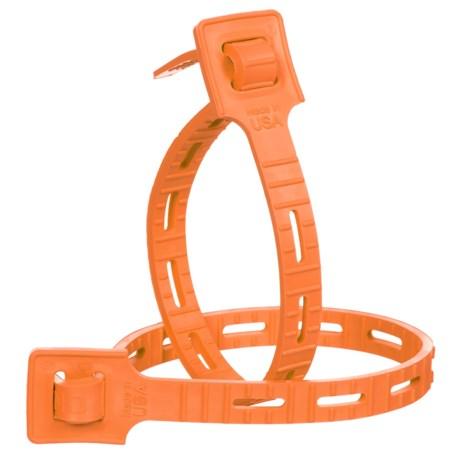 "One-Tie Reusable Strap - 14"", 2-Pack in Orange"