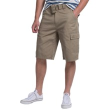One Tough Brand Belted Solid Cargo Shorts (For Men) in Grey - Closeouts