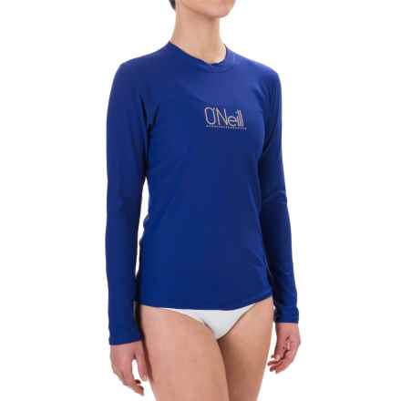 O'Neill 24/7 Tech Rash Guard - UPF 30+, Crew Neck, Long Sleeve (For Women) in Cobalt - Closeouts