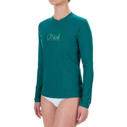 O'Neill 24/7 Tech Rash Guard - UPF 30+, Crew Neck, Long Sleeve (For Women) in Deep Teal - Closeouts