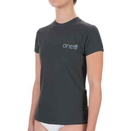 O'Neill 24/7 Tech Rash Guard - UPF 30+, Crew Neck, Short Sleeve (For Women) in Graphite - Closeouts