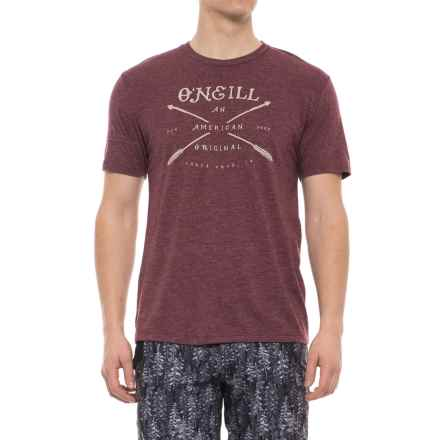 O'Neill Arrows Tri-Blend T-Shirt - Short Sleeve (For Men) in Burgundy - Closeouts