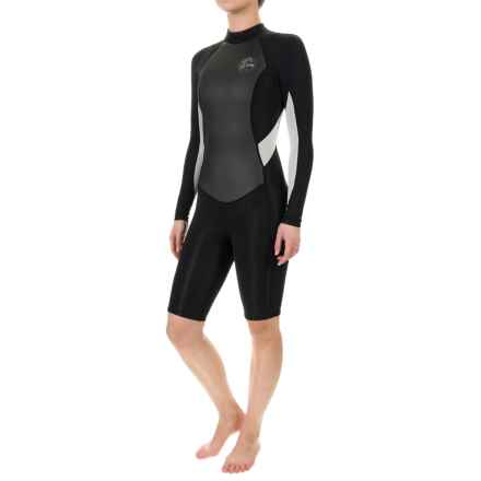 O'Neill Bahia Spring Wetsuit - 2mm, Long Sleeve (For Women) in Black/Black/Lunar - Closeouts