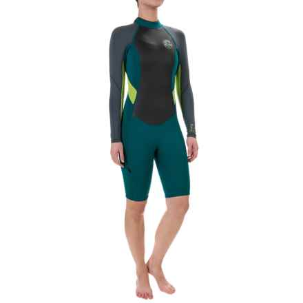 O'Neill Bahia Spring Wetsuit - 2mm, Long Sleeve (For Women) in Deep Teal/Graphite/Lime - Closeouts