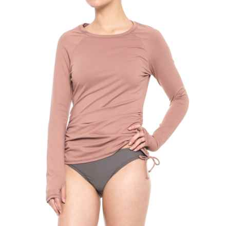 O'Neill Baja Light Layer Rash Guard - Long Sleeve (For Women) in Caramel - Closeouts