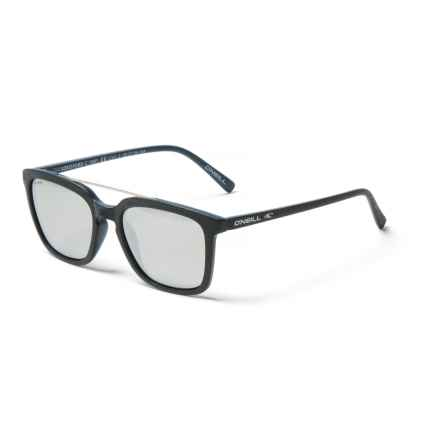 334c6ef42f0 O Neill Beresford Mirror Sunglasses - Polarized in Matte Navy Melee Silver  - Closeouts