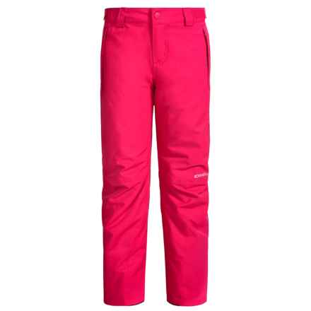 O'Neill Charm Snow Pants - Waterproof, Insulated (For Little and Big Girls) in Virtual Pink - Closeouts