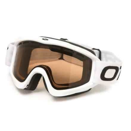 O'Neill Chaser Ski Goggles in Gloss White/Smoke Brown/White/Black - Overstock