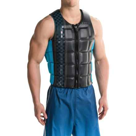 O'Neill Checkmate Competition Wakeboard Vest (For Men) in Black/Sky - Closeouts