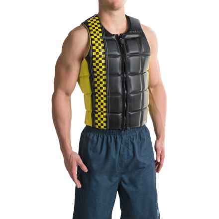 O'Neill Checkmate Competition Wakeboard Vest (For Men) in Black/Yellow - Closeouts