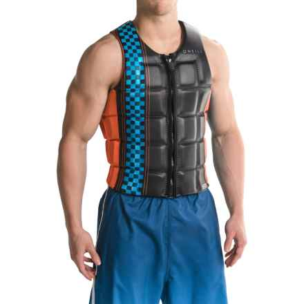O'Neill Checkmate Competition Wakeboard Vest (For Men) in Graphite/Neon Red - Closeouts