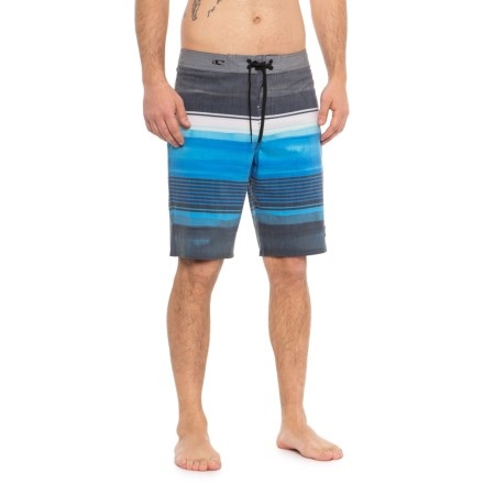 4f840659a8 O'Neill Cooper Striped Boardshorts (For Men) in Dark Charcoal