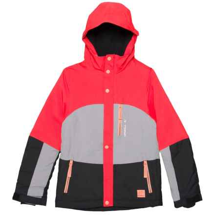 O'Neill Coral Ski Jacket - Waterproof, Insulated (For Little and Big Girls) in Hibiscus Red - Closeouts