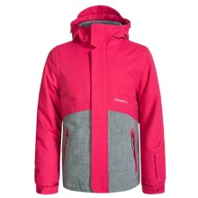 O'Neill Coral Ski Jacket - Waterproof, Insulated (For Little and Big Girls) in Virtual Pink - Closeouts