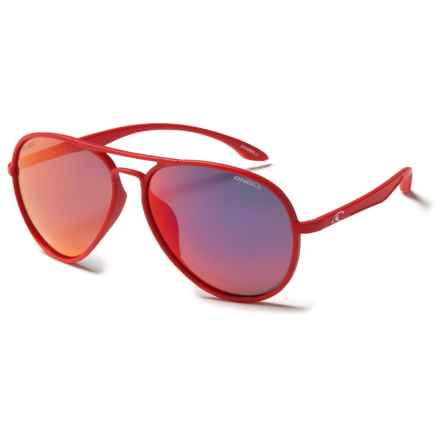 O'Neill Deck Sunglasses - Polarized in Matte Red/Red Mirror - Closeouts