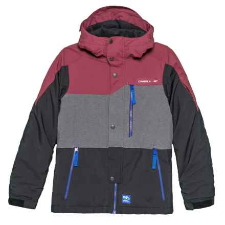 O'Neill Dialled Ski Jacket - Waterproof, Insulated (For Little and Big Boys) in Windsor Wine - Closeouts