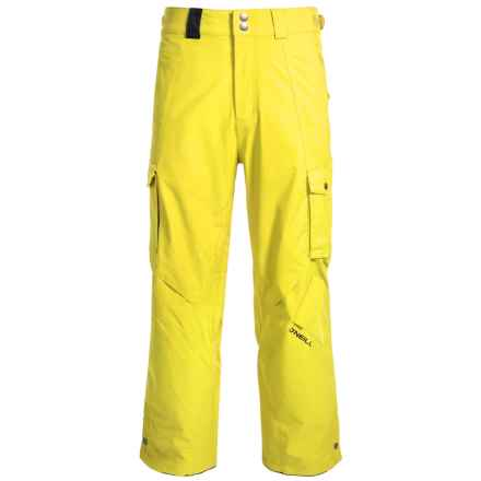 O'Neill Exalt Snowboard Pants - Waterproof (For Men) in Poison Yellow - Closeouts