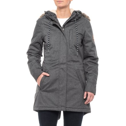87ccafc895 O Neill Frontier Parka - Insulated (For Women) in Black Out - Closeouts