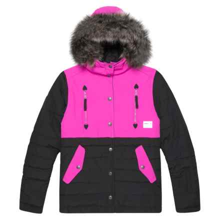 O'Neill Gemma Jacket - Waterproof, Insulated (For Little and Big Girls) in Black Out - Closeouts