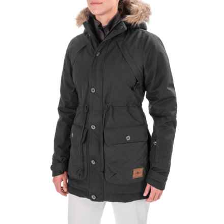O'Neill Glaze Snowboard Jacket - Waterproof, Insulated (For Women) in Black Out - Closeouts