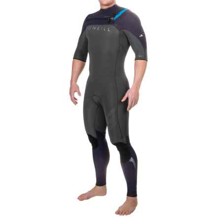 O'Neill Hyperfreak F.U.Z.E. Wetsuit - 2mm, Short Sleeve (For Men) in Graphite/Sky - Closeouts