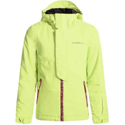 O'Neill Jewel Ski Jacket - Waterproof, Insulated (For Little and Big Girls) in Sunny Lime - Closeouts
