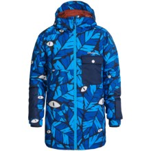 O'Neill Kicker Ski Jacket - Waterproof, Insulated (For Little and Big Boys) in Blue Aop - Closeouts