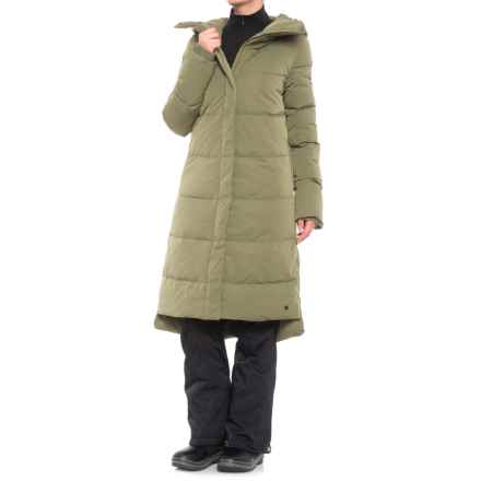 O'Neill Long Padded Down Jacket (For Women) in Camo Green - Closeouts