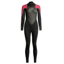 O'Neill Mod FSW Wetsuit with Hood - 3/2mm (For Women) in Blk/Blkflair/San/Blk - Closeouts