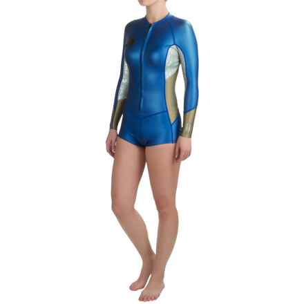 O'Neill Original 1mm Wetsuit - Long Sleeve (For Women) in Deep Sea/Silver/Gold - Closeouts