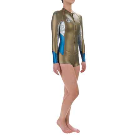 O'Neill Original 1mm Wetsuit - Long Sleeve (For Women) in Gold/Silver/Deep Sea - Closeouts