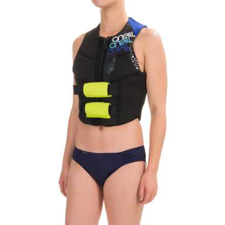 O'Neill Outlaw Competition Vest (For Women) in Black/Light Aqua/Deep Sea - Closeouts