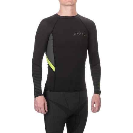 O'Neill O'Zone Compression Rash Guard - UPF 40+, Crew Neck, Long Sleeve (For Men) in Black/Graphite/Lime - Closeouts