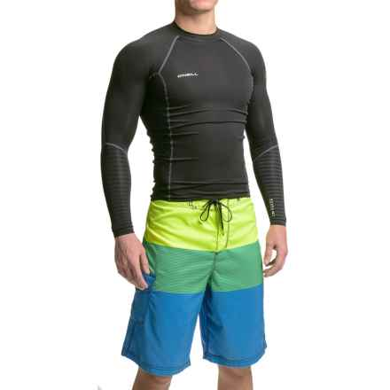 O'Neill O'Zone Compression Rash Guard - UPF 40+, Long Sleeve (For Men) in Black/Black/Black:Graphite - Closeouts