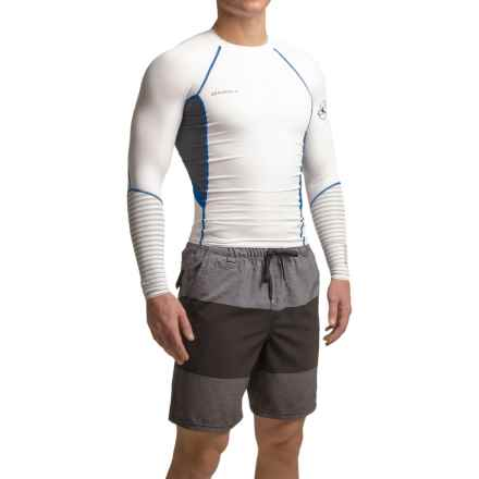 O'Neill O'Zone Compression Rash Guard - UPF 40+, Long Sleeve (For Men) in White/Graphite/Deep Sea:Deep Sea - Closeouts