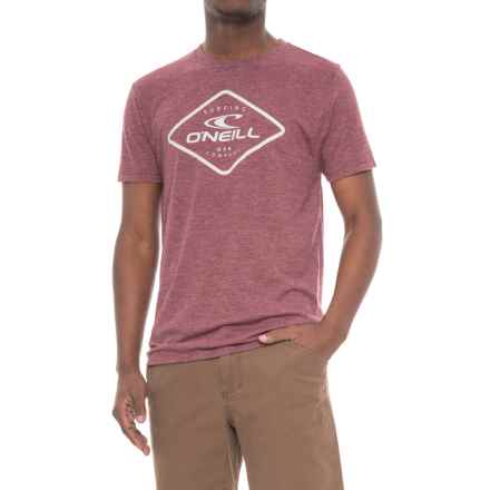 O'Neill Program T-Shirt - Short Sleeve (For Men) in Burgundy - Closeouts