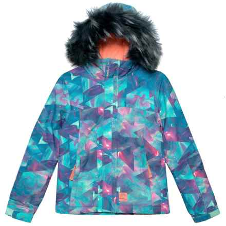 O'Neill Radiant Ski Jacket - Waterproof, Insulated (For Little and Big Girls) in Blue Aop - Closeouts