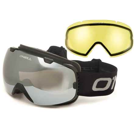 O'Neill Reach Mirrored Ski Goggles - Extra Lens in Matte Black/Brown Revo/Silver Mirror/Black/Grey/Ye - Overstock
