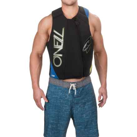 O'Neill Revenge Comp Vest (For Men) in Black/Deep Sea/Lime - Closeouts