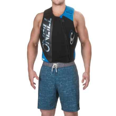 O'Neill Revenge Comp Vest (For Men) in Black/Graphite/Bright Blue - Closeouts