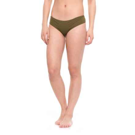 O'Neill Salt Water Solids Surf Hipster Bikini Bottoms (For Women) in Olive - Closeouts