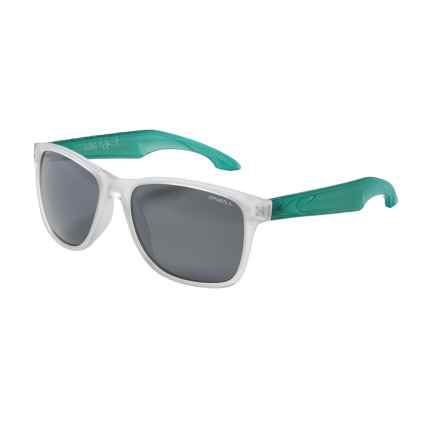 O'Neill Shore Sunglasses - Polarized in Matte Crystal/Mint/Silver Smoke - Closeouts