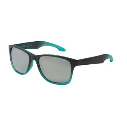 O'Neill Shore Sunglasses - Polarized in Matte Green/Light Green Fade/Silver Mirror - Closeouts
