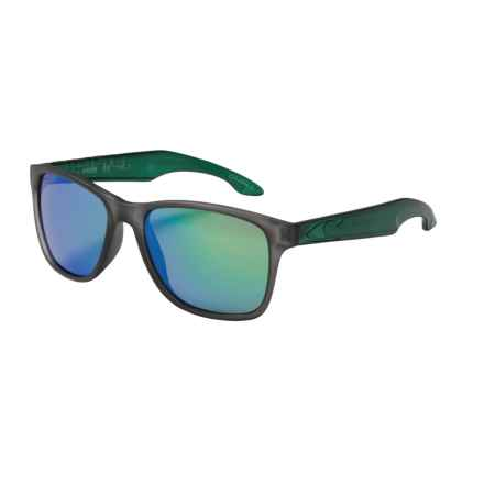 O'Neill Shore Sunglasses - Polarized in Matte Grey Crystal/Teal/Green Mirror - Closeouts