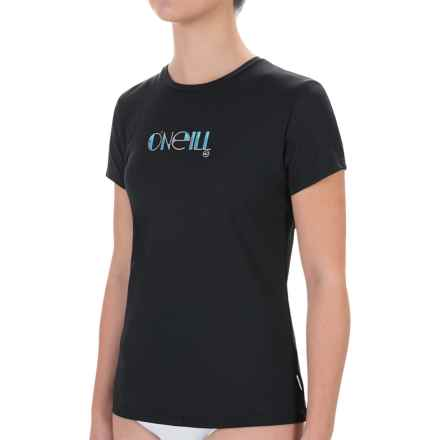 O'Neill Skins Rash Guard - UPF 50+, Short Sleeve (For Women) in Black - Closeouts
